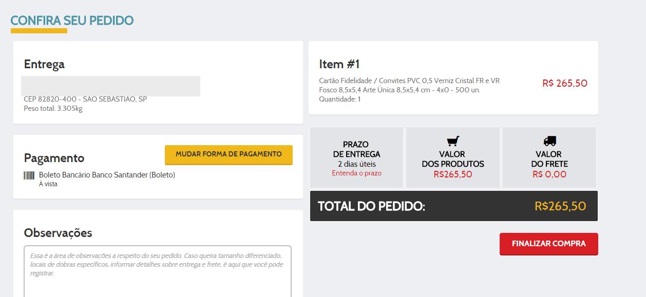 Como comprar no novo site da Paulista Cart�es.