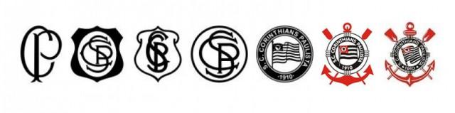 a evolu231227o do design dos escudo dos times paulistas