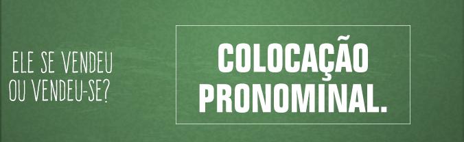 Coloca��o Pronominal