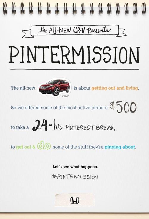 Mídias Sociais-Pinterest-ação Honda